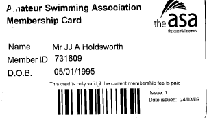 ASA Membership and Swimming Times